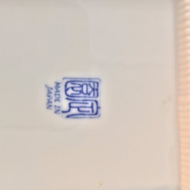 Blue and White Asian Patterned Plates - Set of 4 For Sale In Tampa - Image 6 of 7