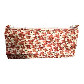 Floral Orange Pattern Roman Shade For Sale
