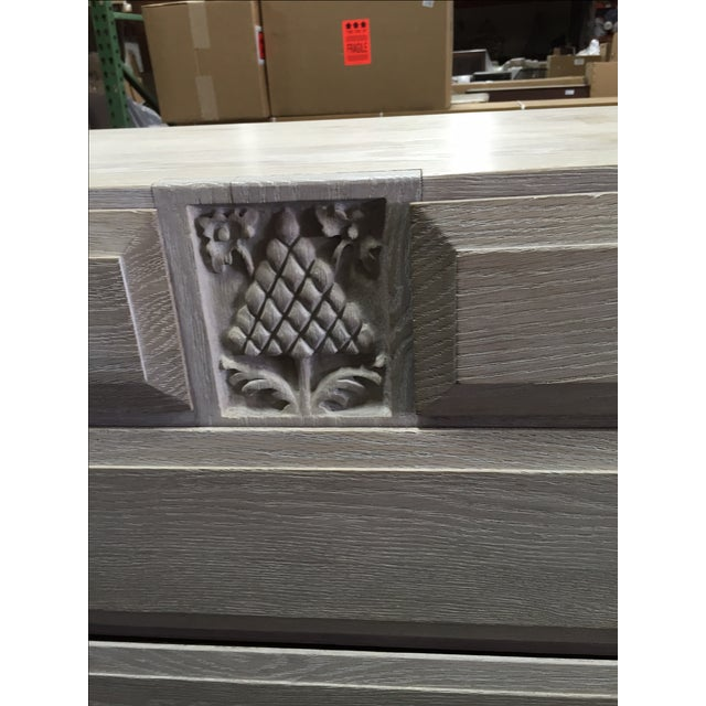 Gray English Limed Oak Chest For Sale - Image 8 of 8
