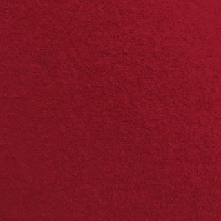 Transitional Holland & Sherry Chamonix Wool in Scarlet Designer Fabric by the Yard For Sale