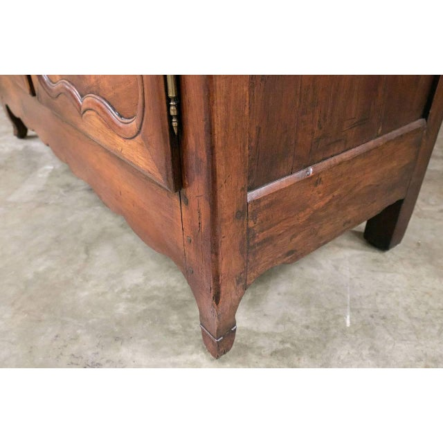 Louis XV Period Rennaise Cherrywood Armoire For Sale - Image 9 of 10
