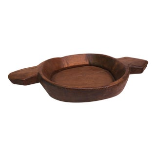 Rustic Farm House Wood Dough Bowl For Sale