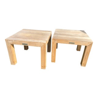 Teak Outdoor Tables by Kingsley Bate, a Pair For Sale
