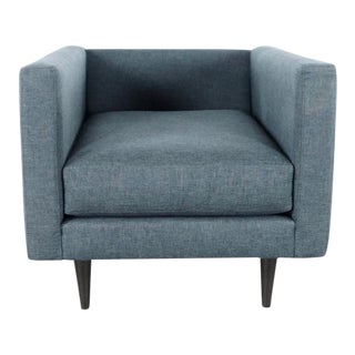 Gray Upholstered Armchair For Sale