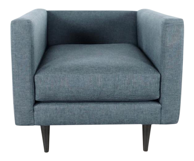 Superieur Gray Upholstered Armchair For Sale