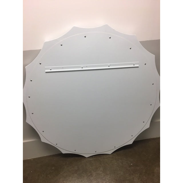 Transitional Round Wall Mirror For Sale - Image 4 of 7