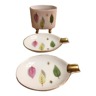Atomic Design Porcelain Smoking Set- Set of 3
