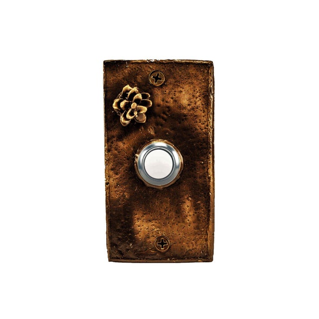 Not Yet Made - Made To Order Rectangle Western Hemlock Doorbell For Sale - Image 5 of 5