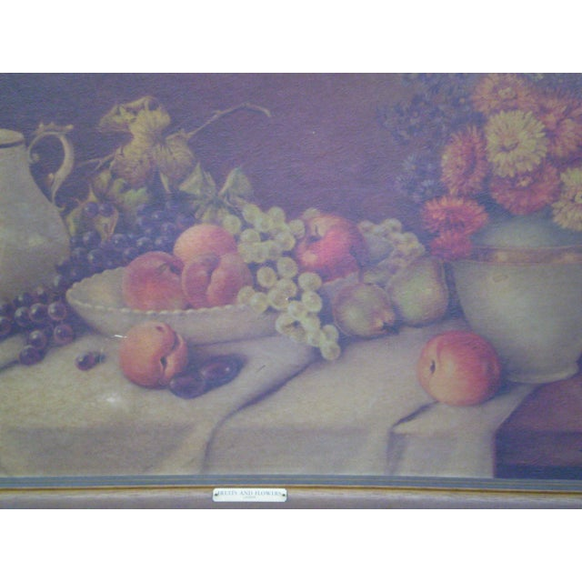 Traditional Framed Fruits & Flowers Still Life by A. Leder For Sale - Image 3 of 11
