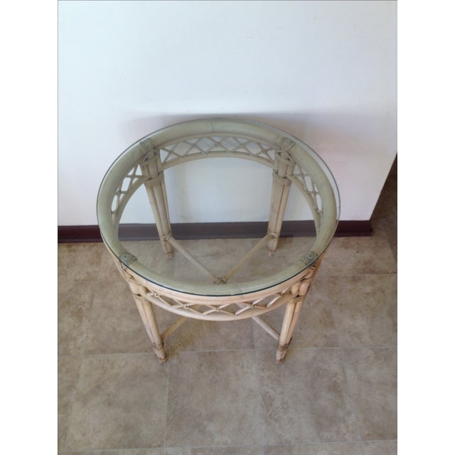 Ficks Reed Lattice Rattan Round Table - Image 5 of 5