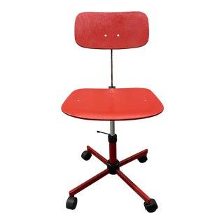 Vintage Rabami Stole Plywood Swivel Desk Chair by Jorgen Rasmussen, Denmark For Sale