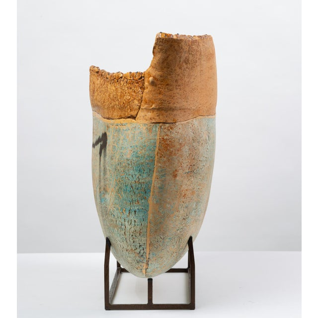 Ceramic Art Vessel With Mount by Jim Kraft For Sale - Image 4 of 12