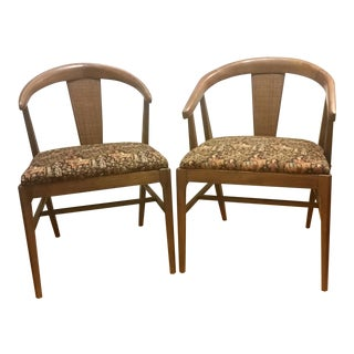 Vintage Mid-Century Thomasville Chair Co. James Mont Style Chairs - a Pair For Sale