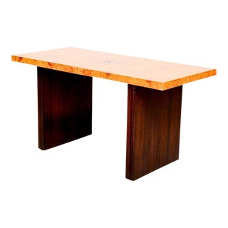 Andrew Szoeke Burl & Macassar Coffee Table For Sale