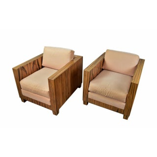 Interior Crafts Chicago Mid-Century Modern Style Rosewood Club Chairs - A Pair Preview