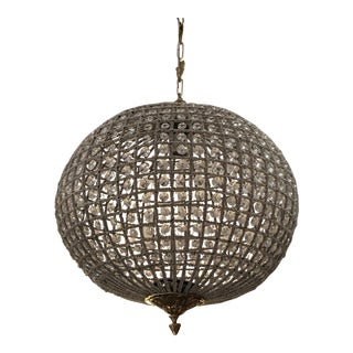 Sphere Shaped Crystal Chandelier For Sale