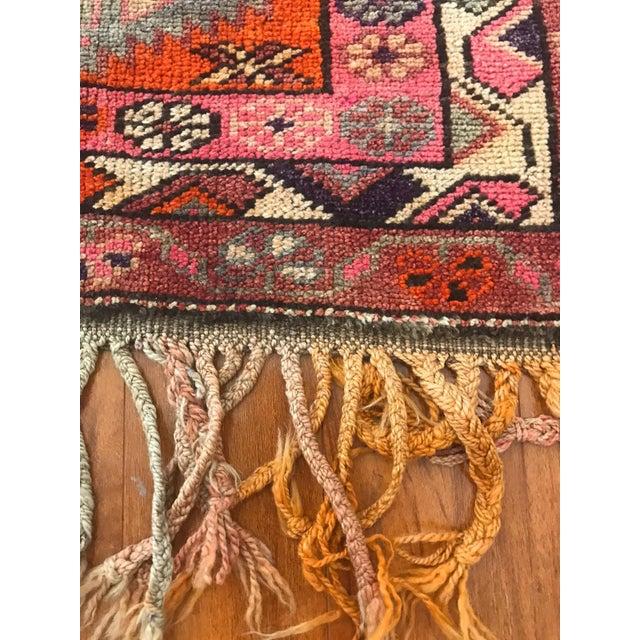 Boho Chic Antique Turkish Long Herki Runner Rug For Sale - Image 3 of 8