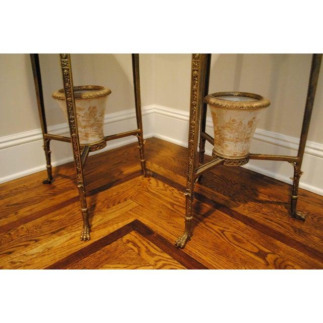 Antique Brass Pedestals - Pair - Image 6 of 9