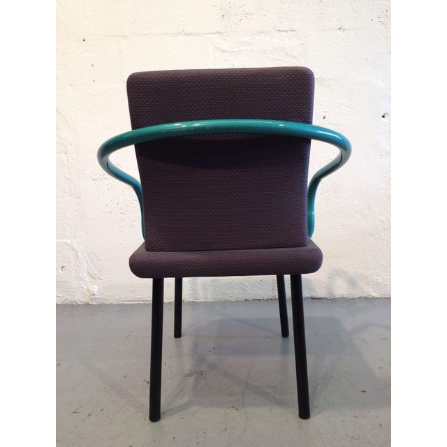Purple Ettore Sottsass Mandarin Chairs for Knoll - A Pair For Sale - Image 8 of 11