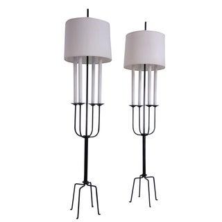 Tommi Parzinger Mid-Century Floor Lamps - A Pair