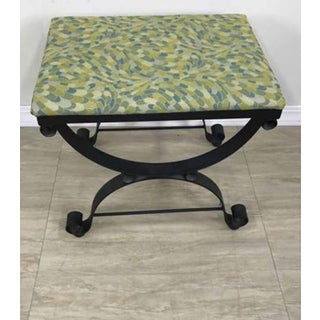 20th Century French Style Wrought Iron Bench Stool Preview