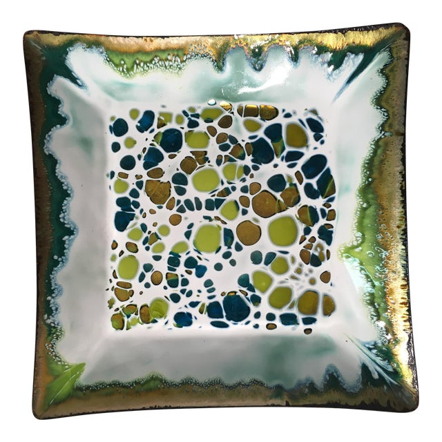 Frank Lee Enameled Copper Dish - Image 1 of 11