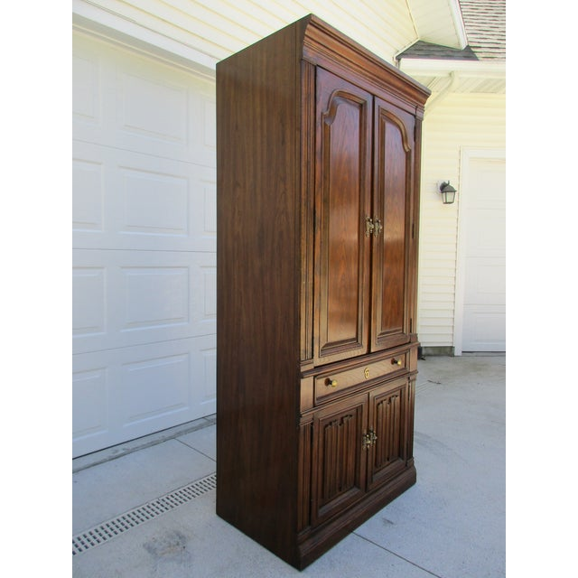 Drexel Lighted Bar Cabinet With Wine Rack - Image 5 of 12