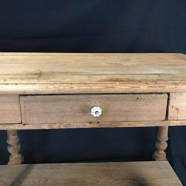 Wood Mid 19th Century Antique French Pine Sideboard For Sale - Image 7 of 12