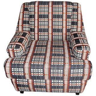 Dorothy Cosonas Knoll Fabric Upholstered Lounge Chair For Sale