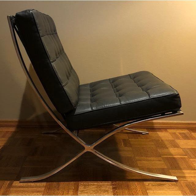 Bauhaus Barcelona Mies Van Der Rohe Pavilion Chair & Ottoman For Sale - Image 3 of 10