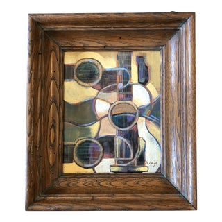 """Original Contemporary Stephen Heigh Modernist Abstract Painting """"Guitar"""" For Sale"""