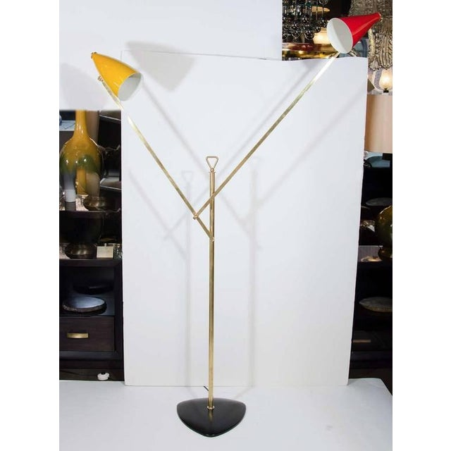 O-Luce Italian Modern Architectural Floor Lamp by Franco Buzzi for O-Luce For Sale - Image 4 of 8