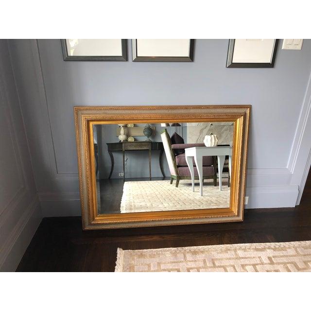 Vintage Wood Framed Beveled Mirror Chairish