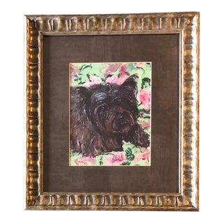 Cairn Terrier Dog Print by Contemporary Artist Judy Henn For Sale