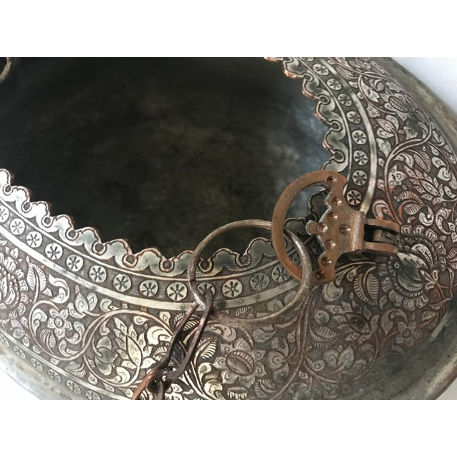 Vintage Turkish Ornate Oval Hanging Brazier Planter For Sale In Saint Louis - Image 6 of 9
