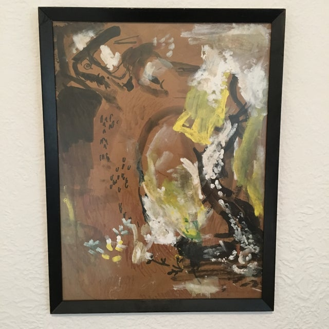 1960s Vintage Abstract Painting - Image 2 of 4