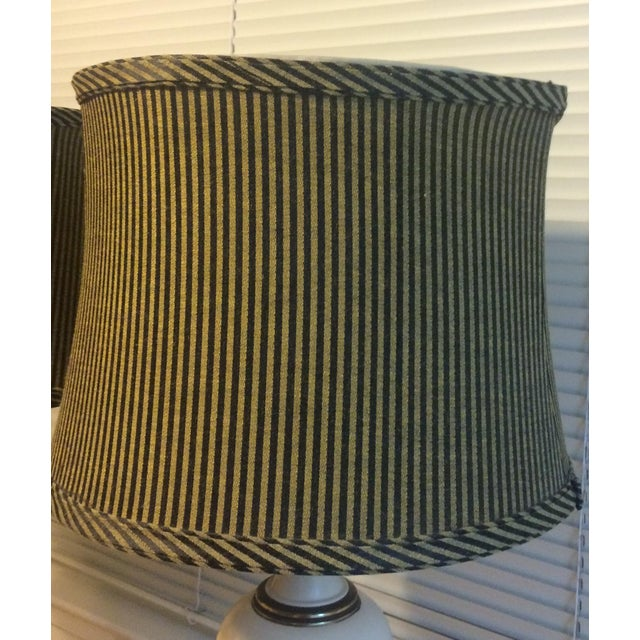 French Country Style Table Lamps - Pair - Image 9 of 10