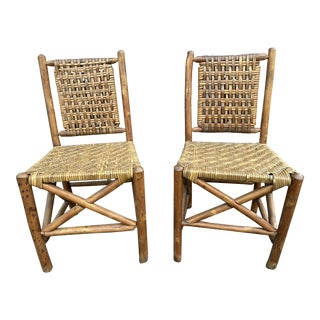 1940s Vintage Old Hickory Martinsville Chairs - a Pair For Sale