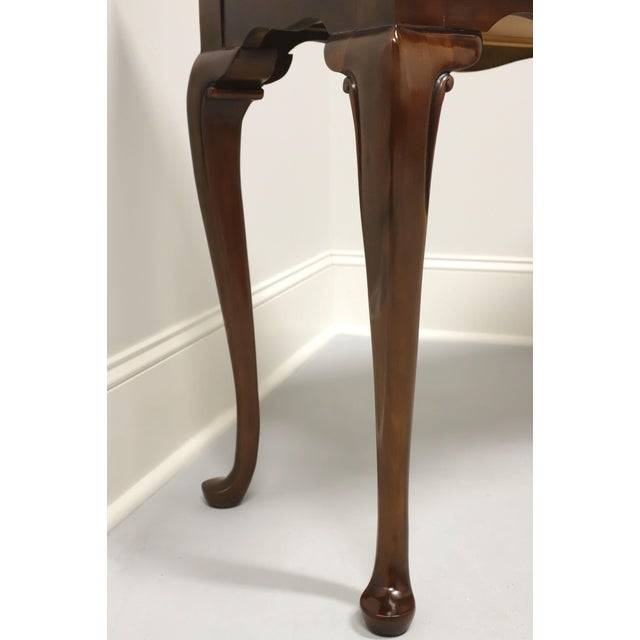 Brown Drexel Heritage Solid Cherry Queen Anne Console Table For Sale - Image 8 of 13