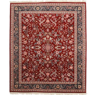 Vintage Hand Knotted Persian Style Rug For Sale
