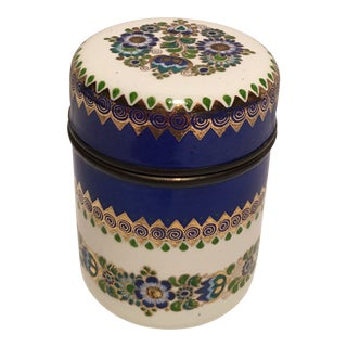 1950s Steinbock Austrian Enameled Box For Sale
