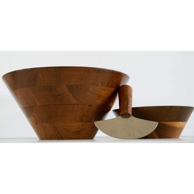 Mid-Century Walnut Salad Set - Image 8 of 8
