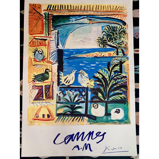 "1994 Pablo Picasso ""Cannes A.M."" Lithographic Poster For Sale - Image 13 of 13"
