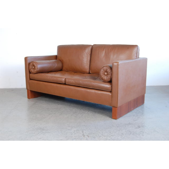 Vintage Mid Century Mies Van Der Rohe for Knoll Settee For Sale - Image 10 of 11