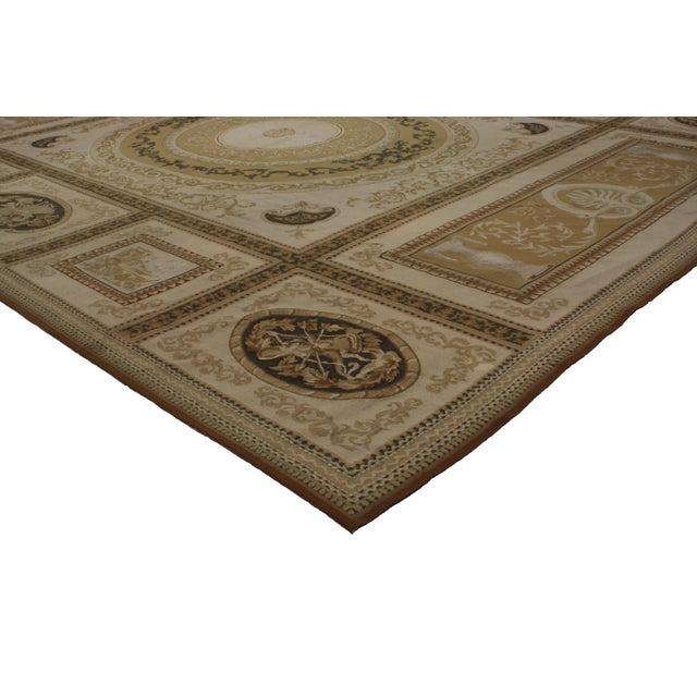 Aubusson Hand-Knotted Wool Area Rug-8'8x11'2 For Sale - Image 4 of 7