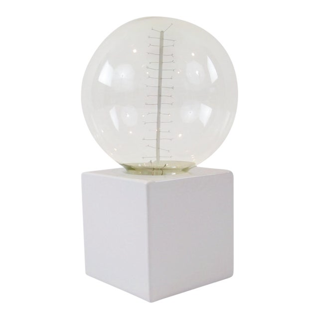 White Cube Table Lamp - Image 1 of 8