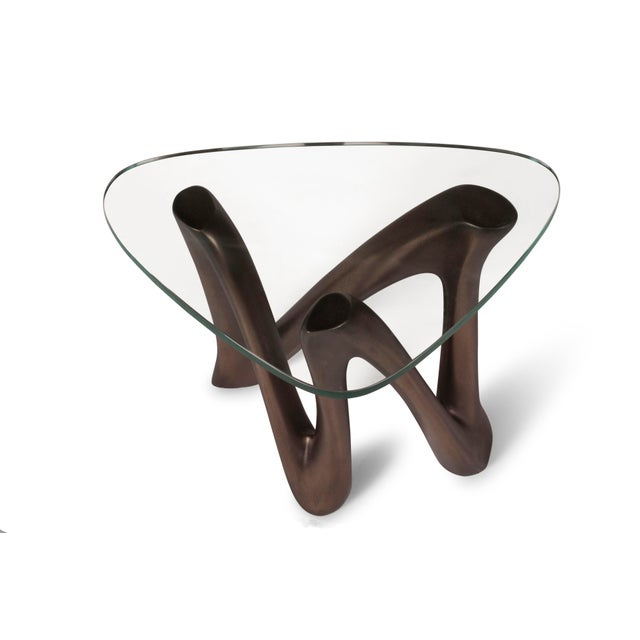 Amorph Ronia Dark Bronze Side Table With Glass Top For Sale In Los Angeles - Image 6 of 9