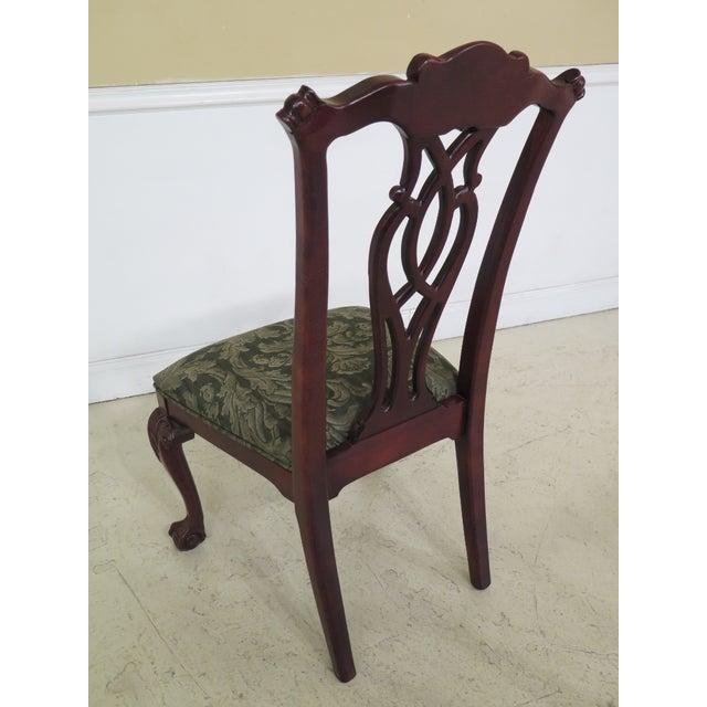 Modern Century Ball & Claw Dining Room Chairs- Set of 10 For Sale - Image 9 of 13