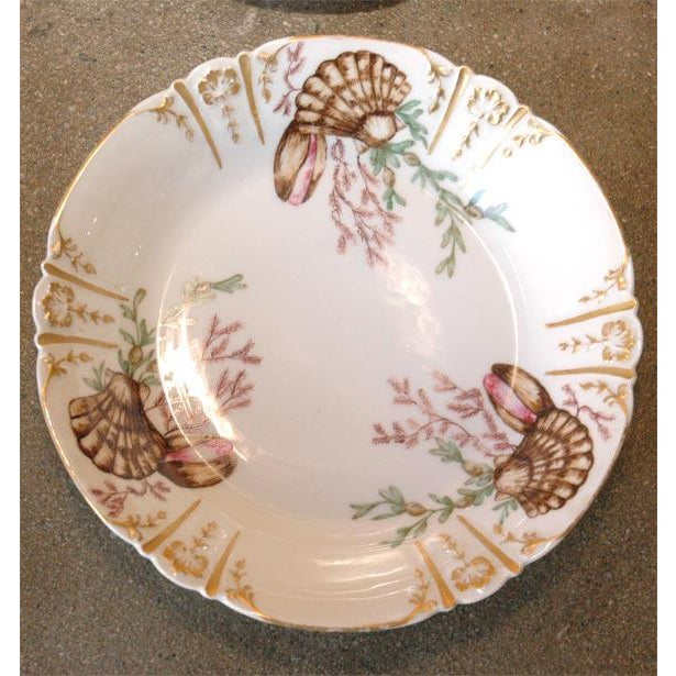 1910s Shell Decorated Dishes - Set of 6 For Sale - Image 5 of 9