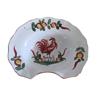 Antique French Faience Barber Bowl For Sale